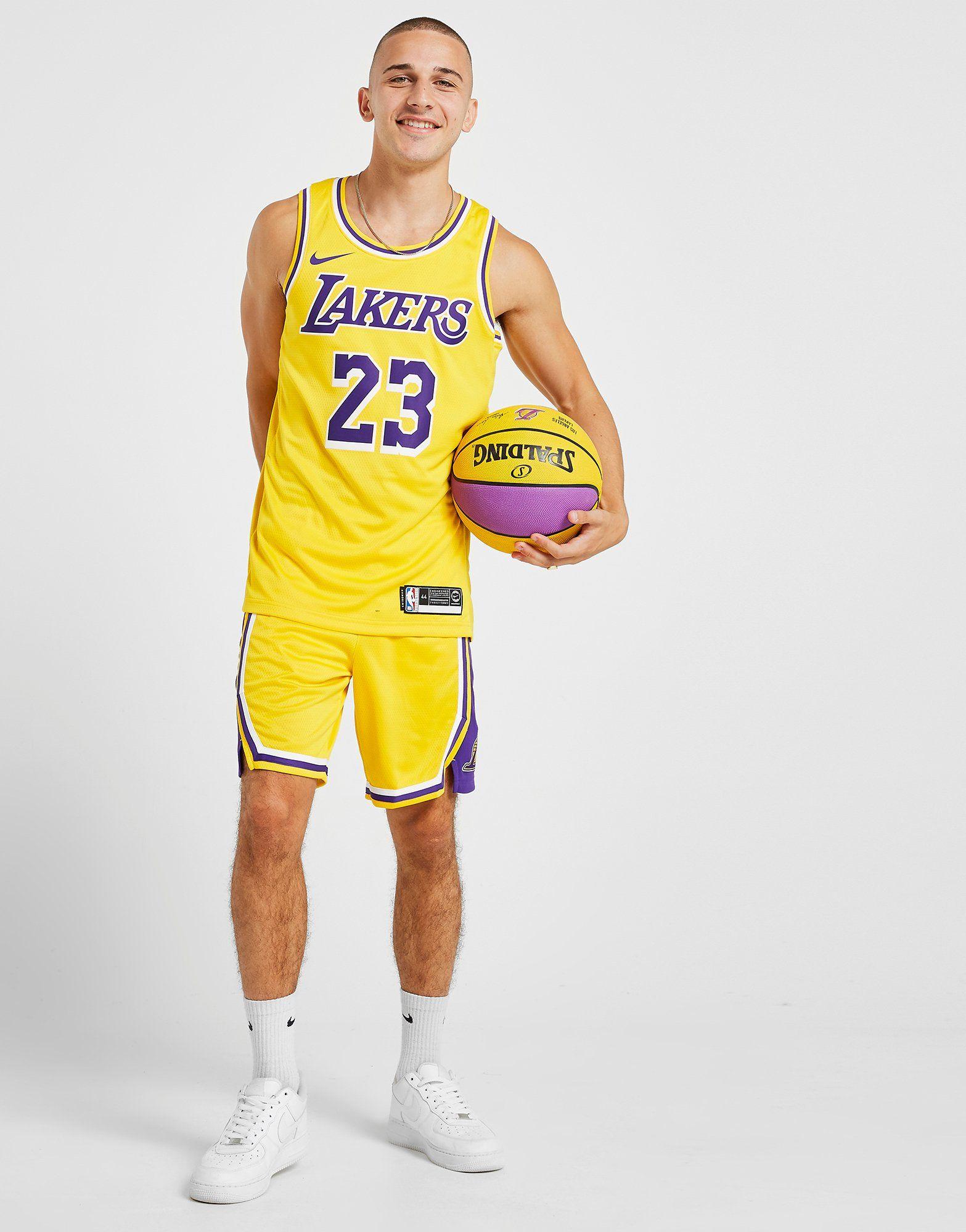 meet f3c14 8fe47 Nike Los Angeles Lakers Icon Edition Swingman Men's Nike NBA Shorts | JD  Sports