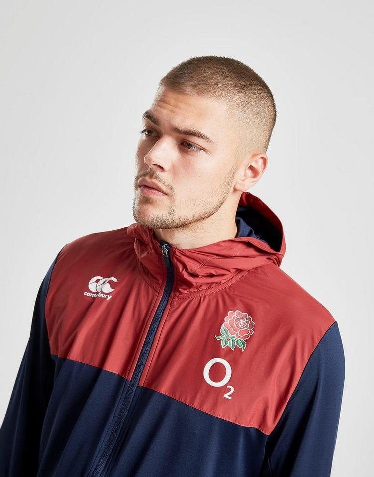 Canterbury Official Mens England Rugby Vapodri Zip Poly Hoody Hoodie Navy Blue