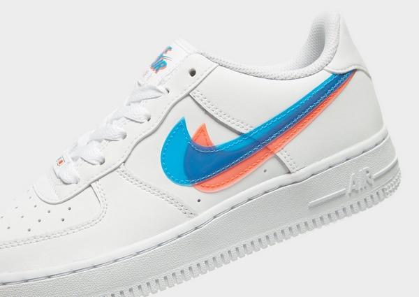 nike air Force 1 vit med blå