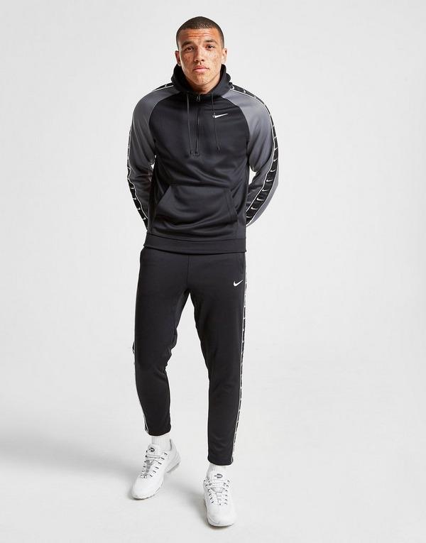 Acherter Noir Nike Sweat à capuche Tape Poly 12 Zippé Homme