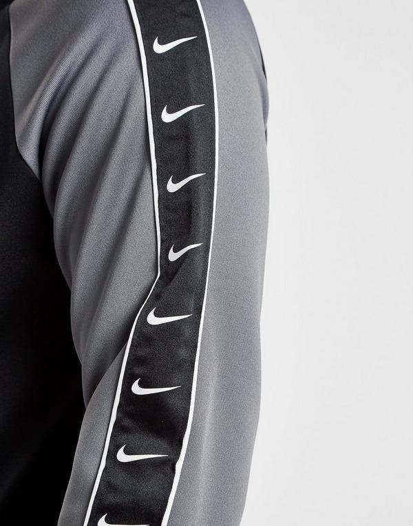 Buy Black Nike Tape Poly 12 Zip Hoodie   JD Sports