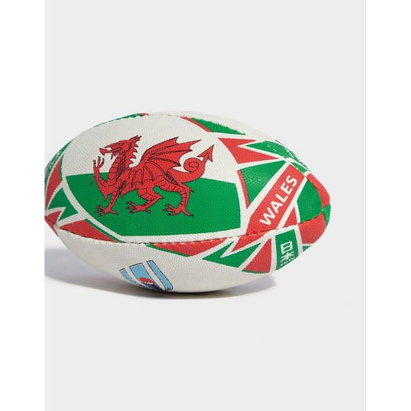 Gilbert Rugby World Cup Wales Flag Mini Rugby Ball