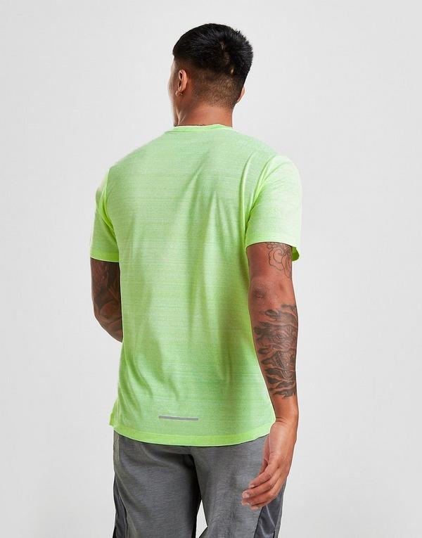 Køb Nike Miler Short Sleeve T Shirt Herre i Gul | JD Sports