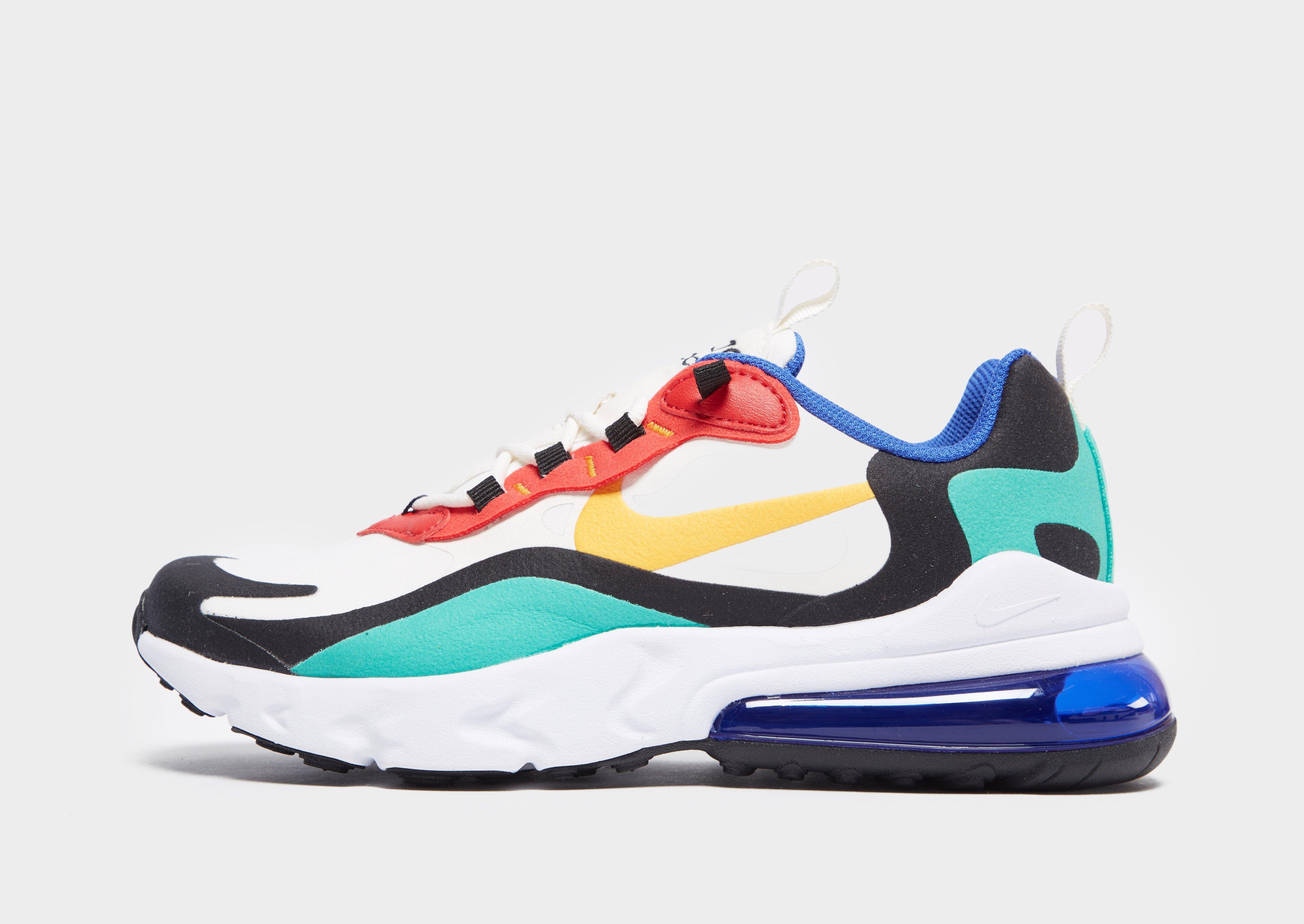 Buy Blue Nike Air Max 270 React Junior | JD Sports