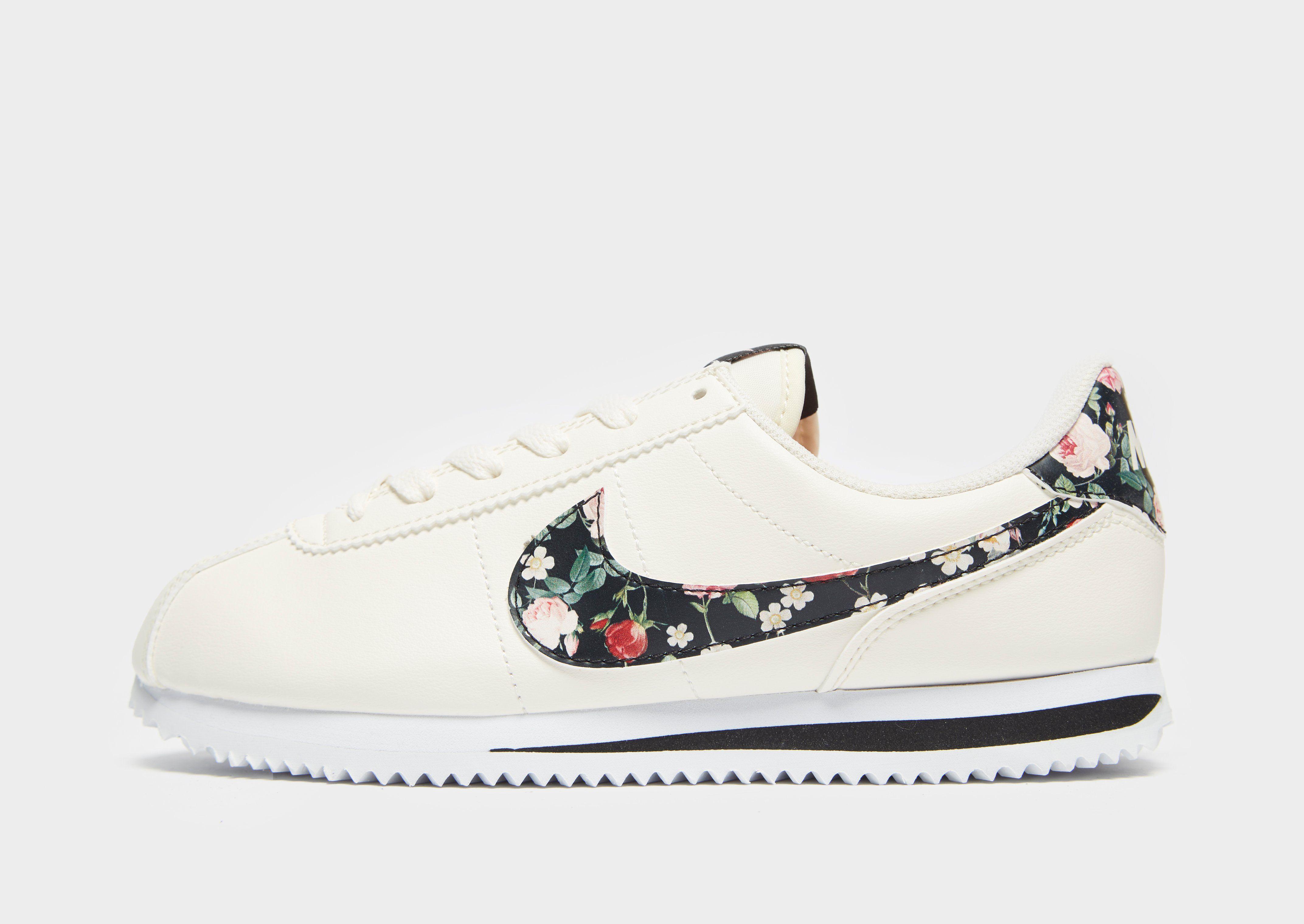 on sale a9f41 0516f Nike Cortez Basic Vintage Floral Older Kids' Shoe   JD Sports