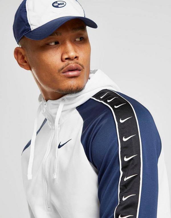 Acherter Blanc Nike Sweat à capuche Tape Poly 12 Zippé