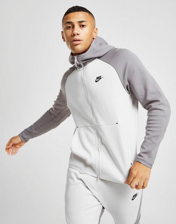 Køb Nike Tech Fleece Windrunner Hoodie Herre i Hvid | JD Sports