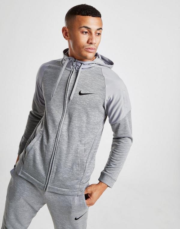 Hybrid Taped Full Zip Hoodie Grey