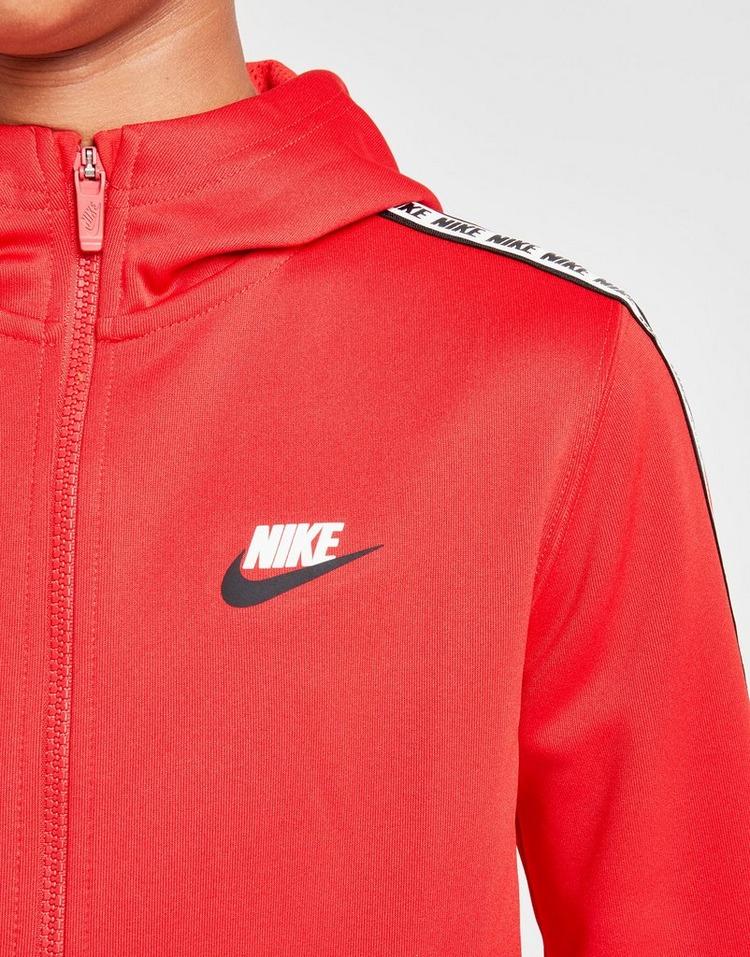 Acheter Red Nike Sweat à capuche Tape Poly Full Zip Hoodie