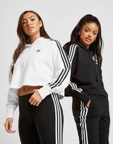 adidas Originals 3-Stripes Crop Overhead Hættetrøje Dame