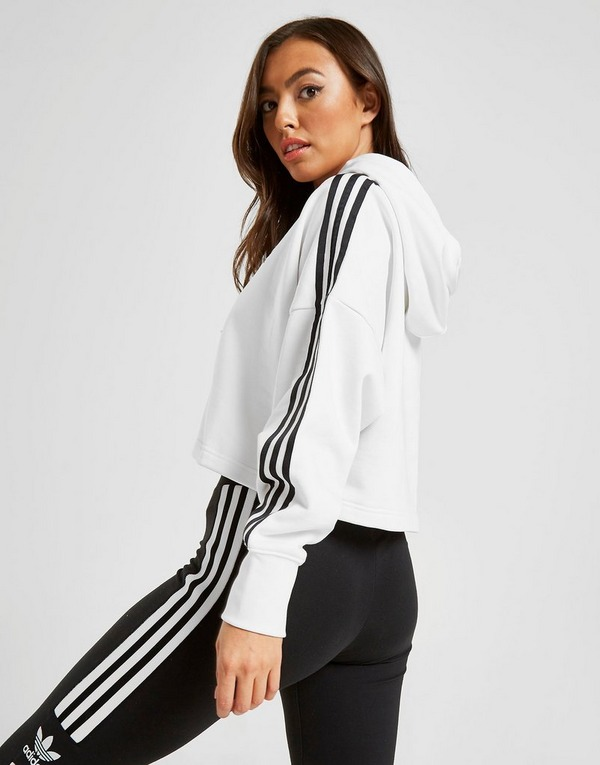 adidas originals sweat à capuche 3-rayures crop femme
