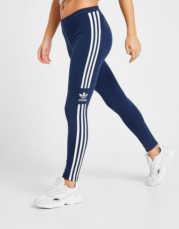 Koop Blauw adidas Originals 3 Stripes Trefoil Leggings Dames