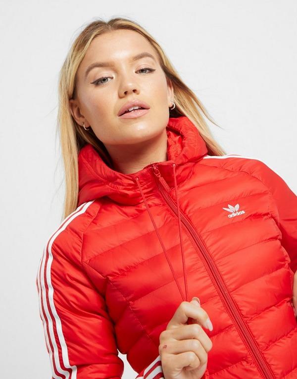 Acherter Rouge adidas Originals Veste Rembourrée 3 Rayures