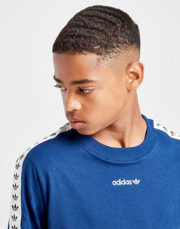 adidas Originals Colour Block Tape T Shirt Junior   JD Sports