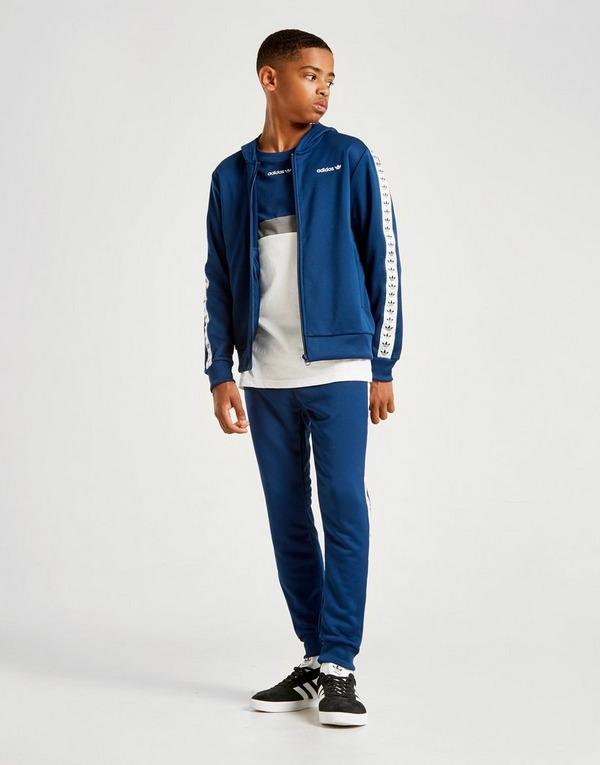 Acherter Bleu adidas Originals Sweat à capuche Tape Poly