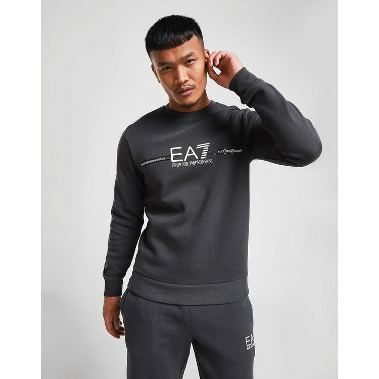 Emporio Armani EA7 Central Logo Crew Sweatshirt Heren