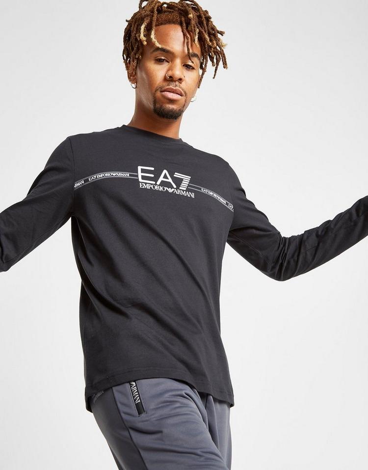 Emporio Armani EA7 Central Logo Långärmad T-Shirt