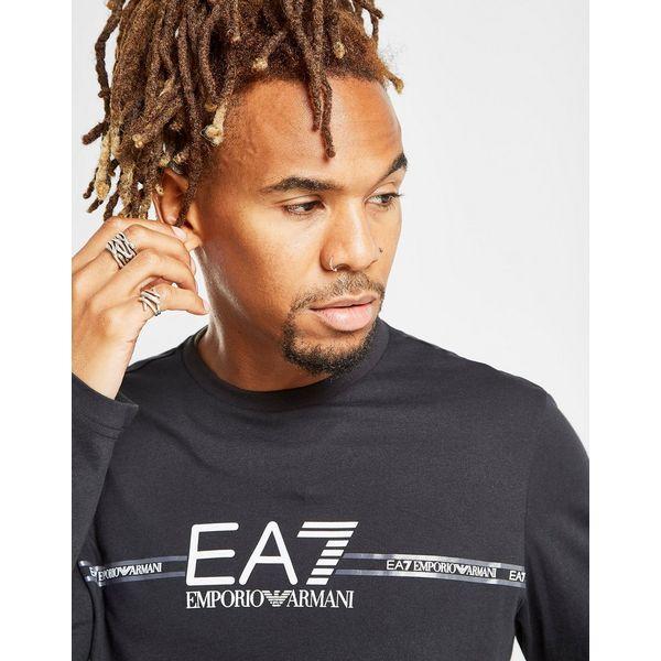 Emporio Armani EA7 Central Logo Long Sleeve T-Shirt
