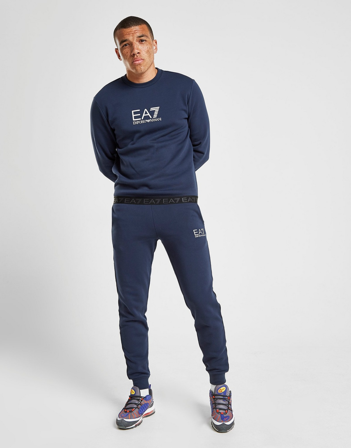 Emporio Armani Ea7 Tape Logo Joggers by Jd Sports