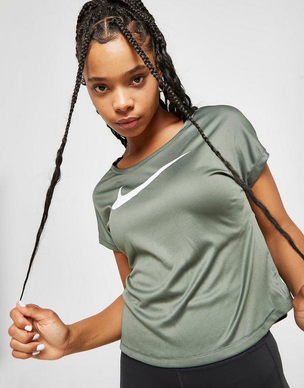 Køb Nike Running Miler Short Sleeve T Shirt Dame i Grøn | JD