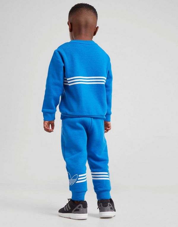 7bac35a3e6 adidas Originals Spirit Outline Crew Tracksuit Infant | JD Sports