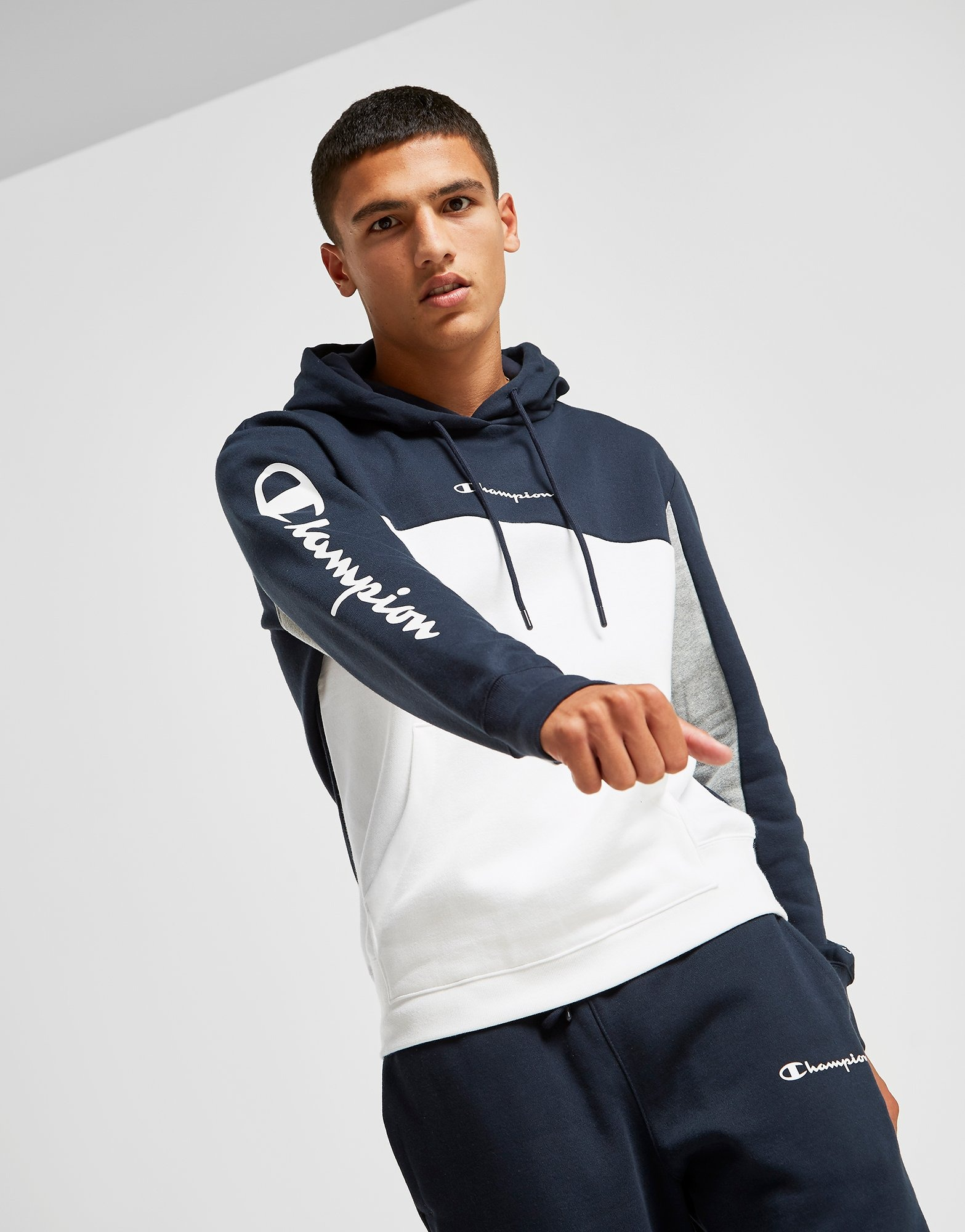 Champion Colour Block Overhead Hoodie by Champion