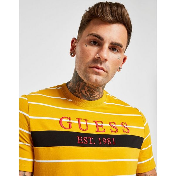 Guess Panel Stripe T-Shirt