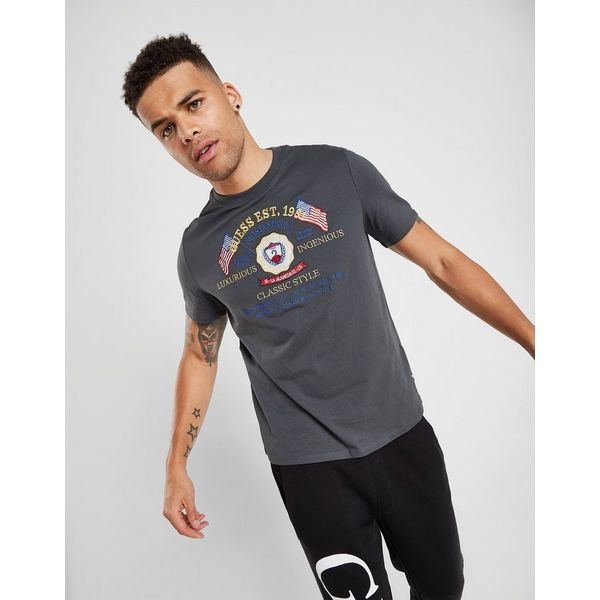 Guess Embroidered Coat of Arms T-Shirt