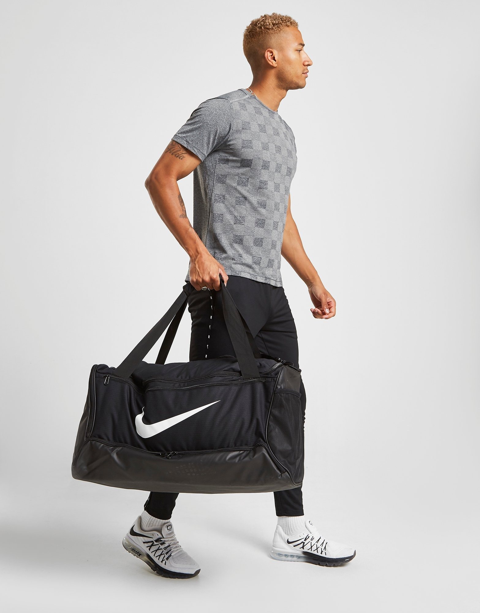 buy Nike Brasilia Duffel Sports Bag Large Black, Black