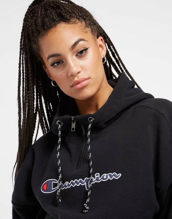 Champion Script 1/4 Zip Polar Fleece Hoodie
