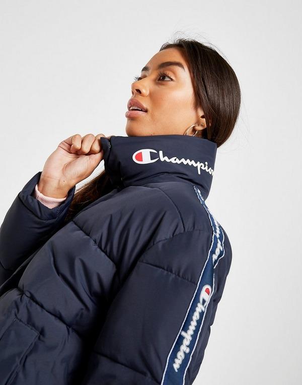 Køb Champion Tape Logo Dynjakke Dame i Blå   JD Sports