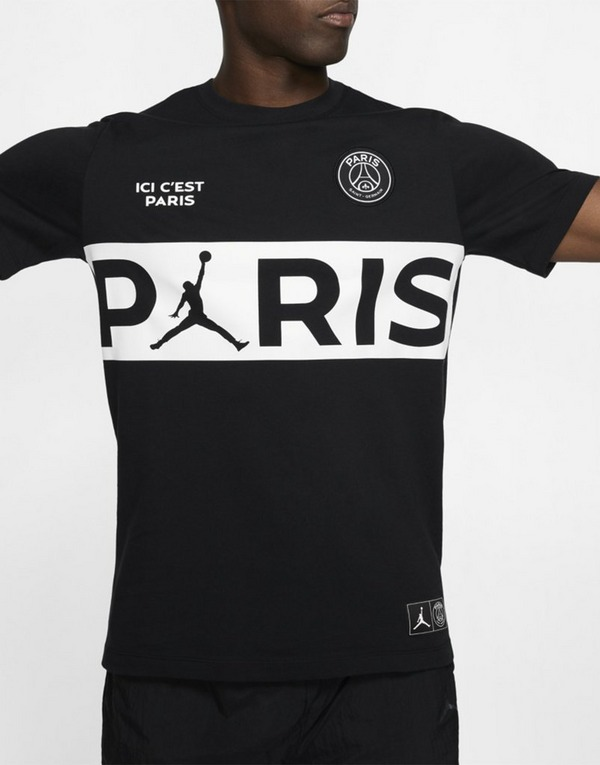 Jordan x Paris Saint Germain Wordmark T Shirt Herren | JD Sports
