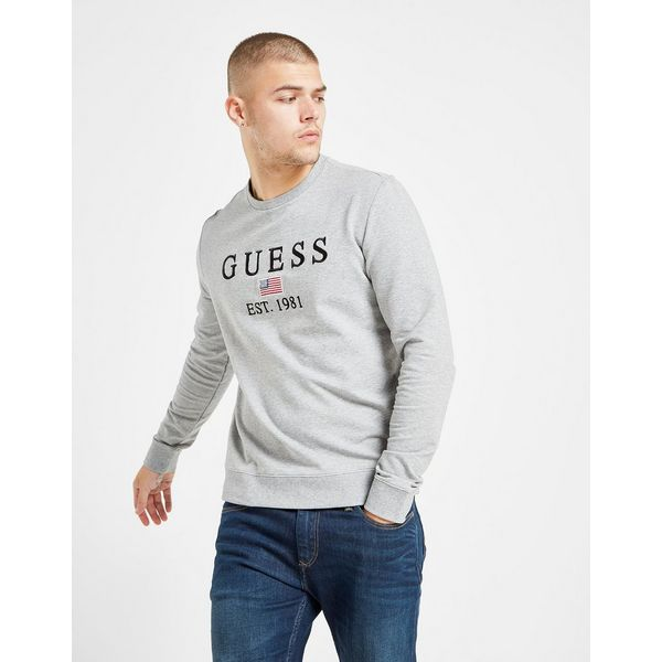 GUESS Small Flag Crew Sweatshirt