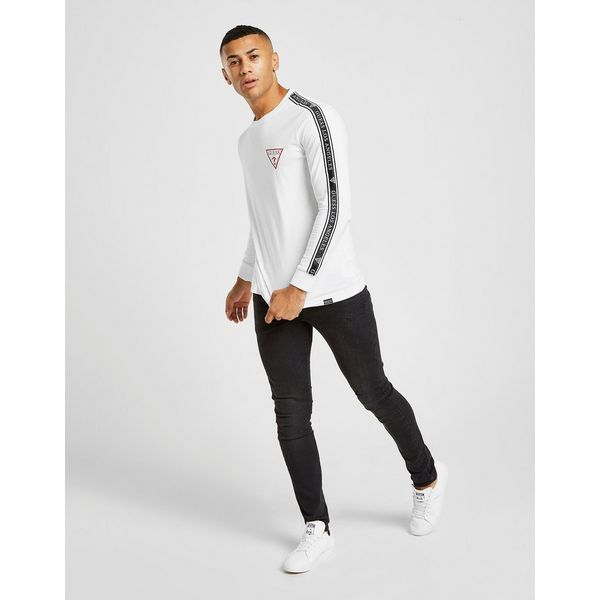 GUESS Long Sleeve Los Angeles Tape T-Shirt