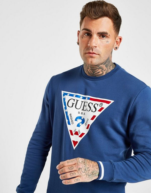 Guess USA Core Triangle Logo Crew Sweatshirt
