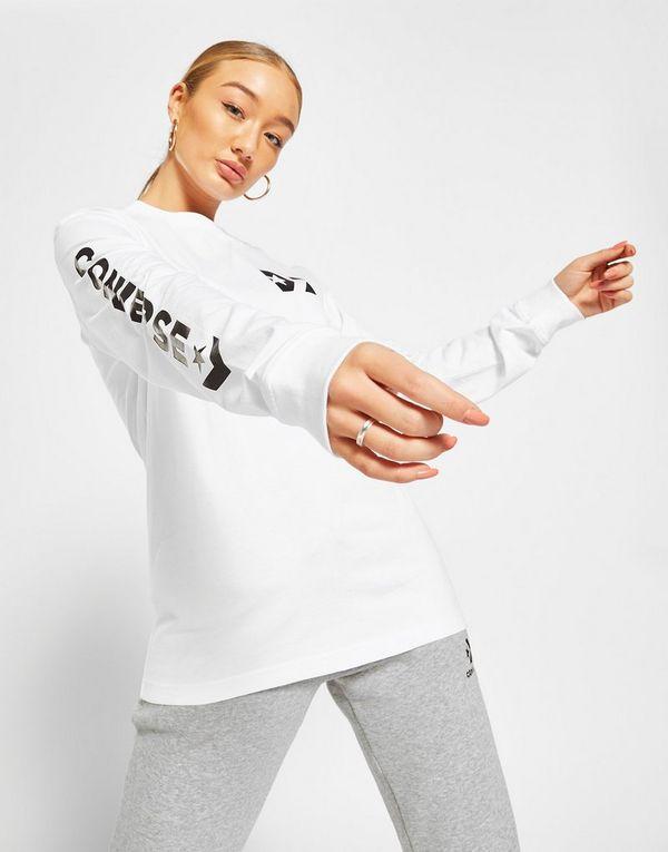 Converse Logo Long Sleeve Boyfriend T-Shirt