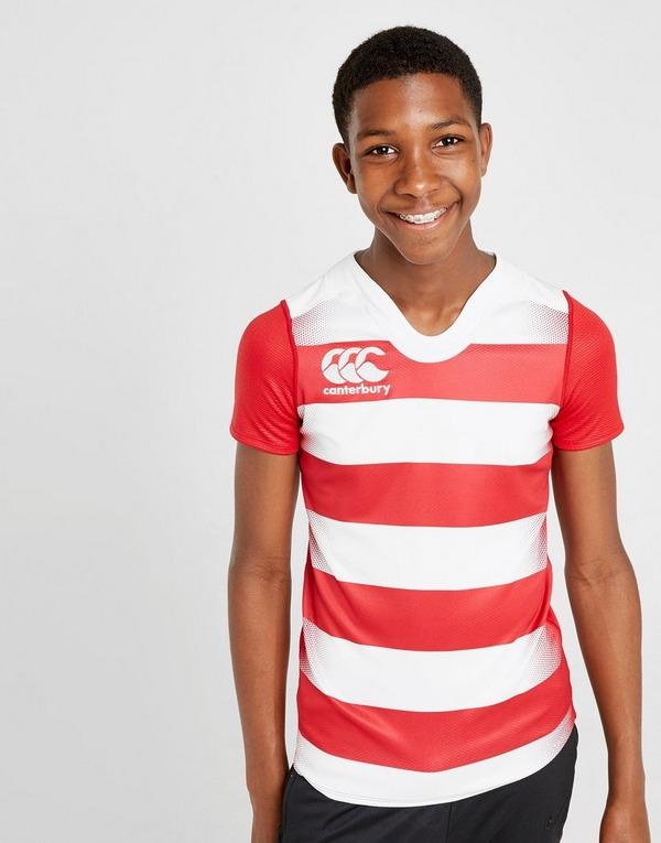 Canterbury camiseta VapoDri Hooped Rugby júnior