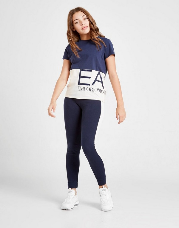 Emporio Armani EA7 Girls' Master Logo T-Shirt Junior
