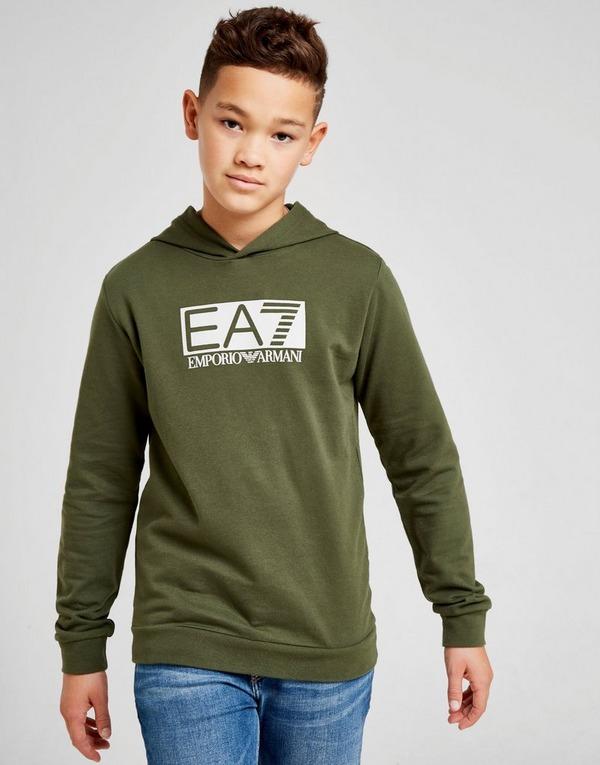 Emporio Armani EA7 Training Vis Logo Overhead Fleece Hoodie Junior