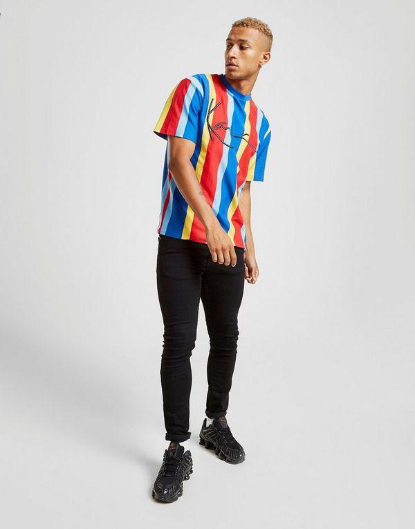 Karl Kani Vertical Stripe Short Sleeve T-Shirt