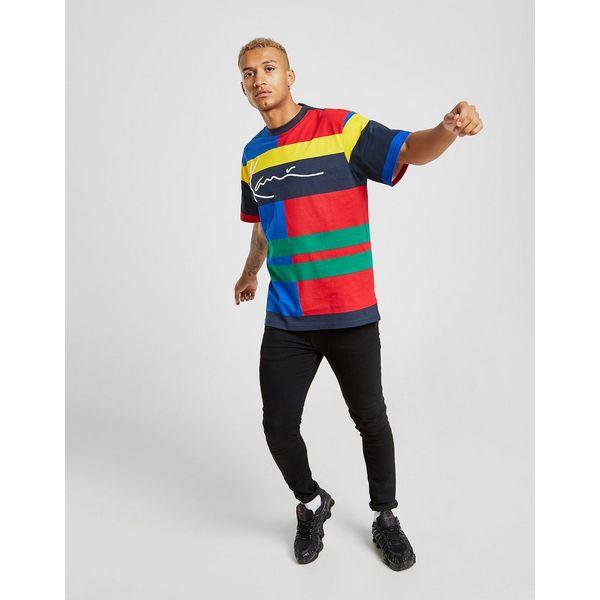 Karl Kani Colour Block Stripe Short Sleeve T-Shirt