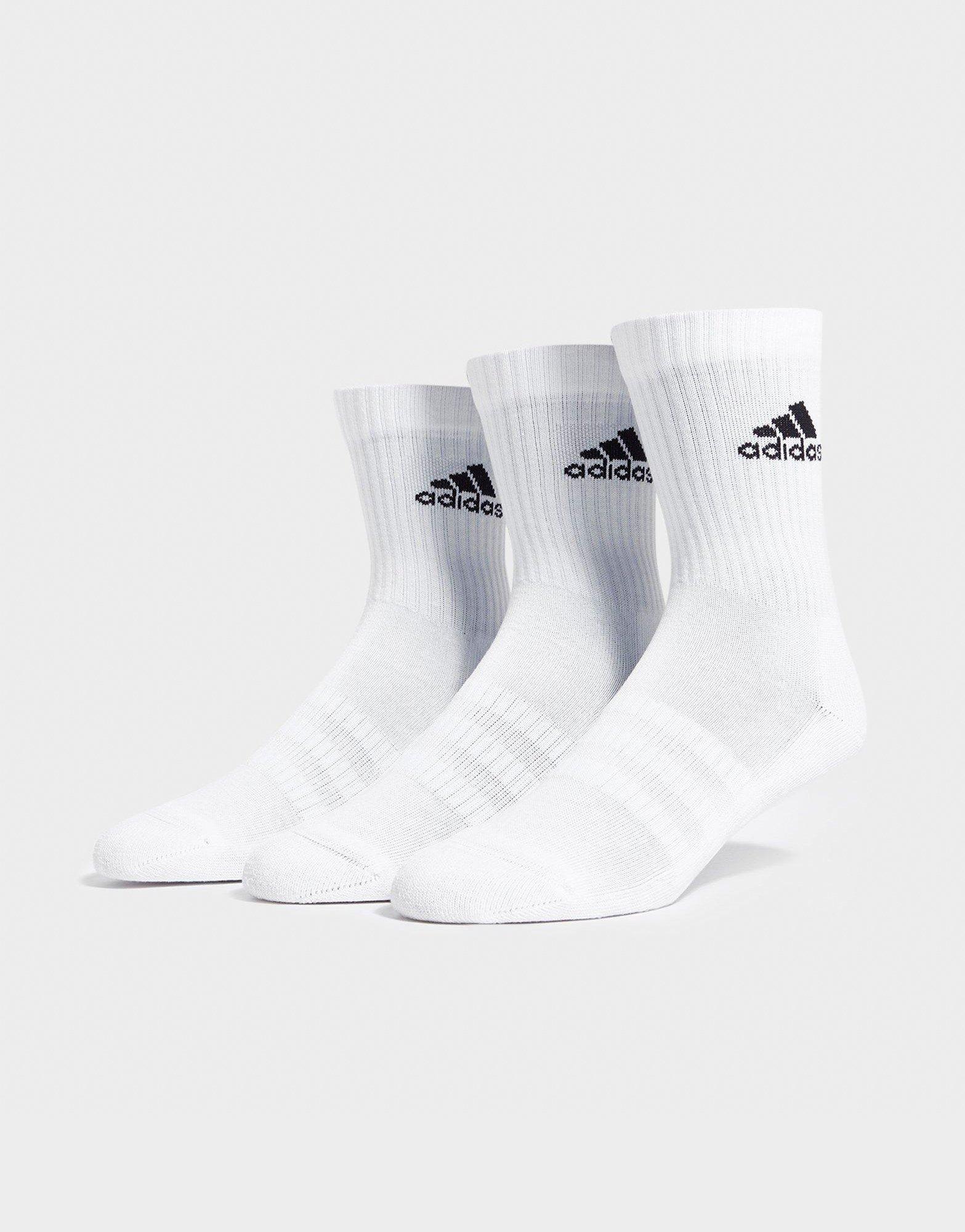 Alcanzar de primera categoría ganar  White adidas 3 Pack Crew Socks Junior | JD Sports