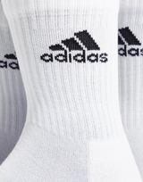 adidas 3 Pack Crew Socks Junior