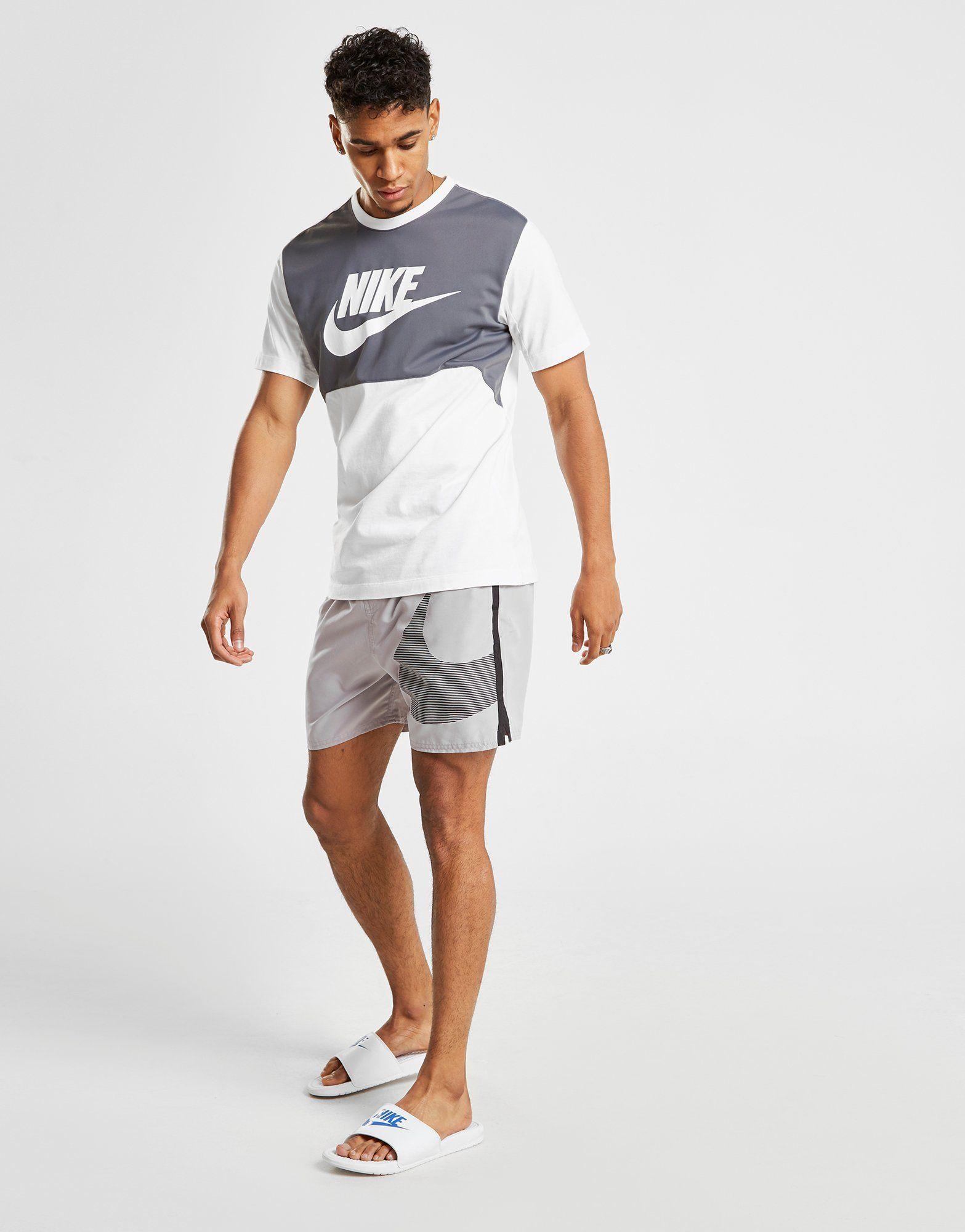 Nike Dual Logo Swim Shorts