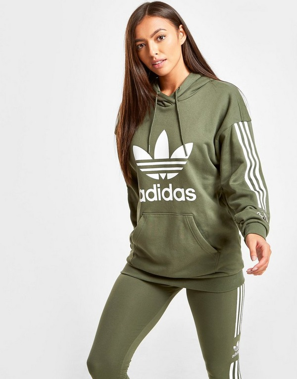 Shop den adidas Originals 3 Stripes Lock Up Boyfriend Hoodie