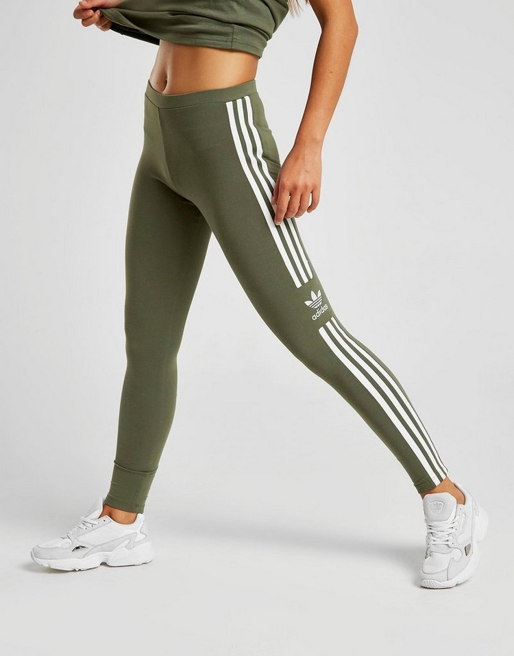 on sale great fit aliexpress Buy Green adidas Originals 3-Stripes Trefoil Leggings   JD Sports