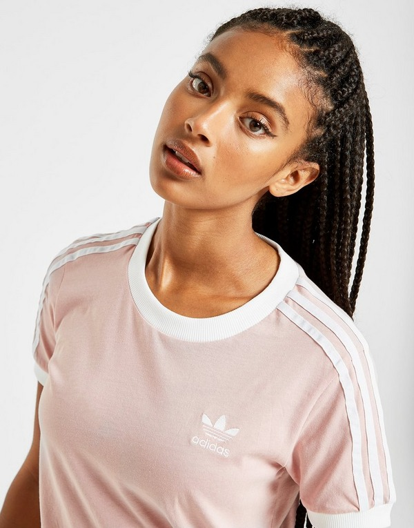 Koop Roze adidas Originals 3 Stripes California T Shirt