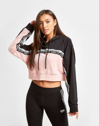 adidas Originals Colour Block Tape Crop Hoodie