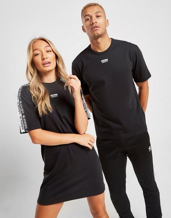 adidas Originals Tape T Shirt Logo Dress | JD Sports