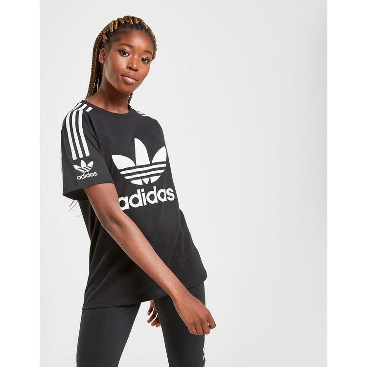 adidas Originals 3-Stripes Lock Up Boyfriend T-Shirt Dames